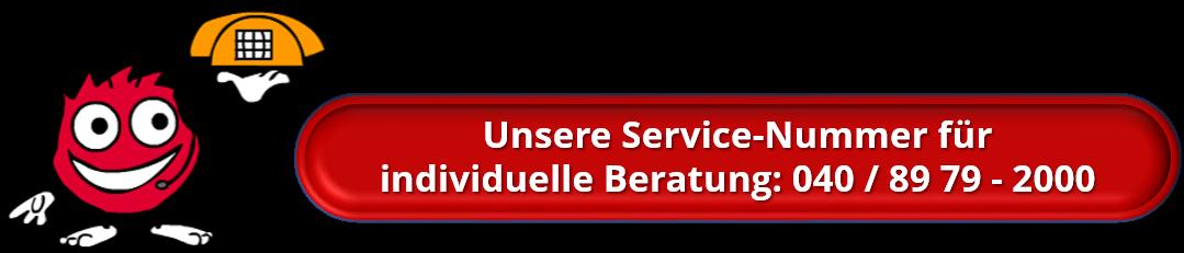 Unsere Servicenummer